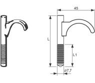 Дюбель одинарный пластмассовый для труб 14-20 мм (80)